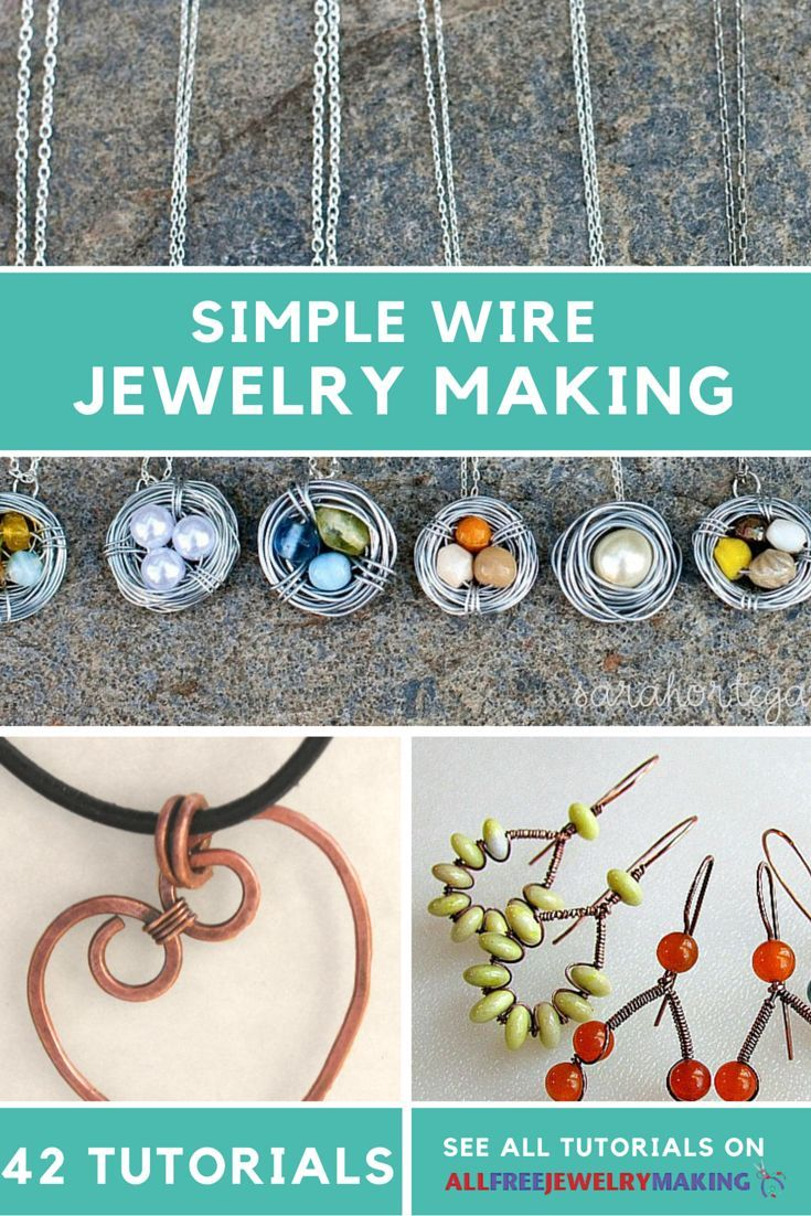 54 Simple Wire Jewelry Making Tutorials | Tutorials, Wire wrapping ...