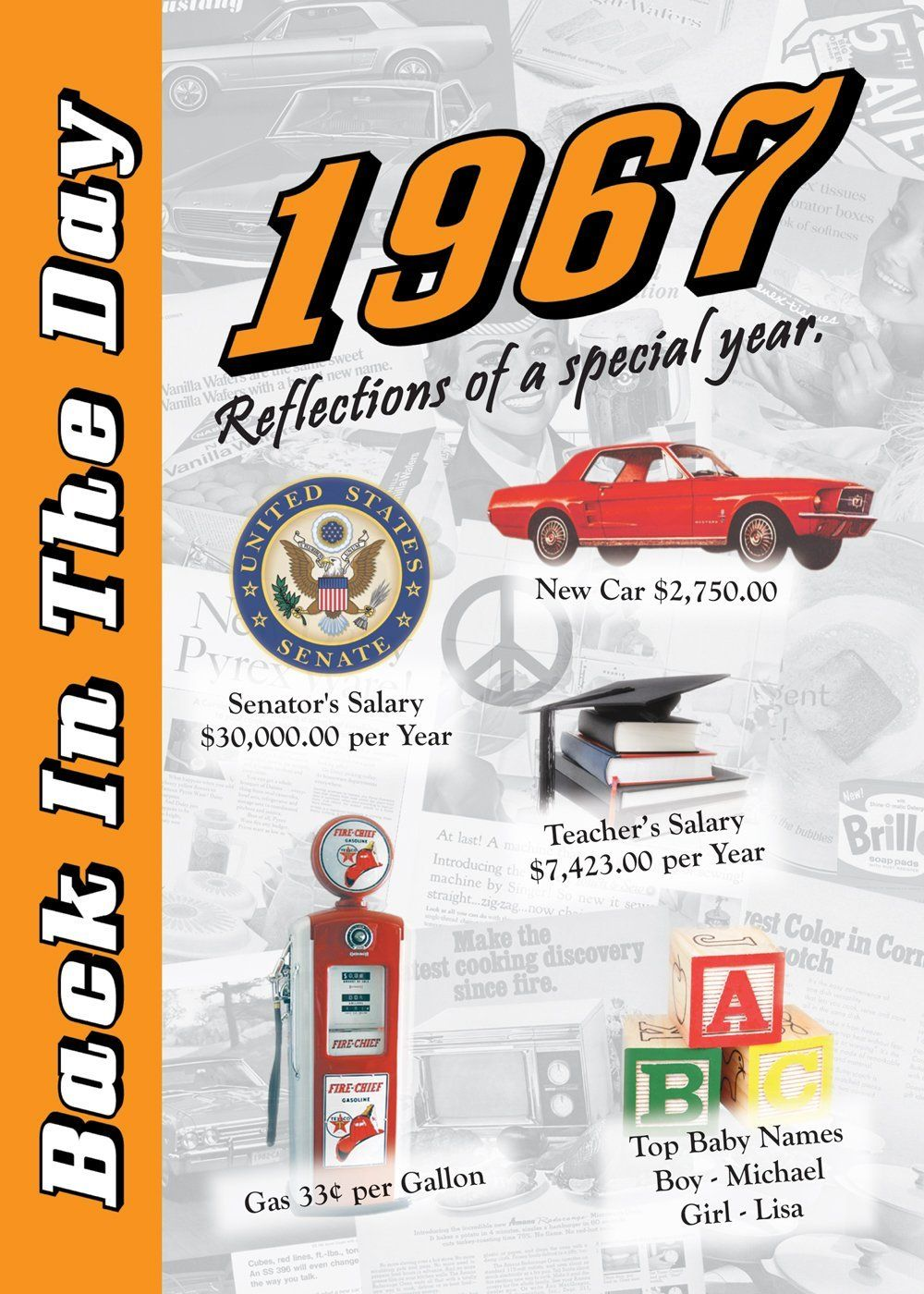 1967 Back In The Day Almanac -- 24-page Booklet / Greeting Card