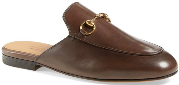 bfd6d13d46c Gucci Princetown Leather Horsebit Mule Slipper Flat in Brown