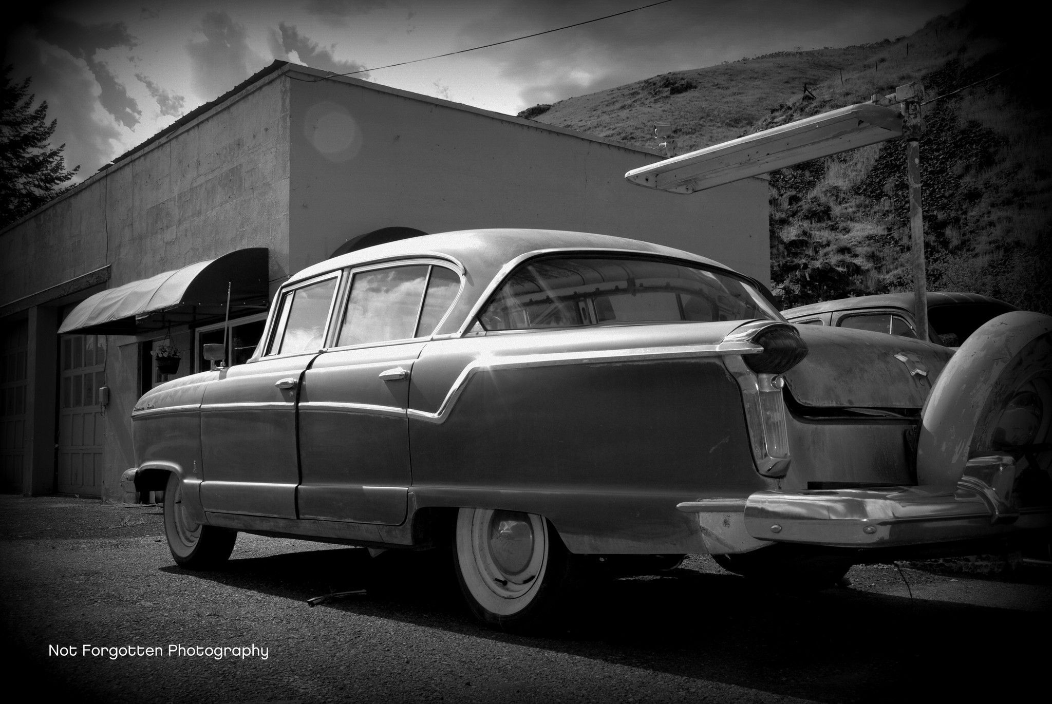 Old Car Shop Black & White | Car shop, Cars and Products