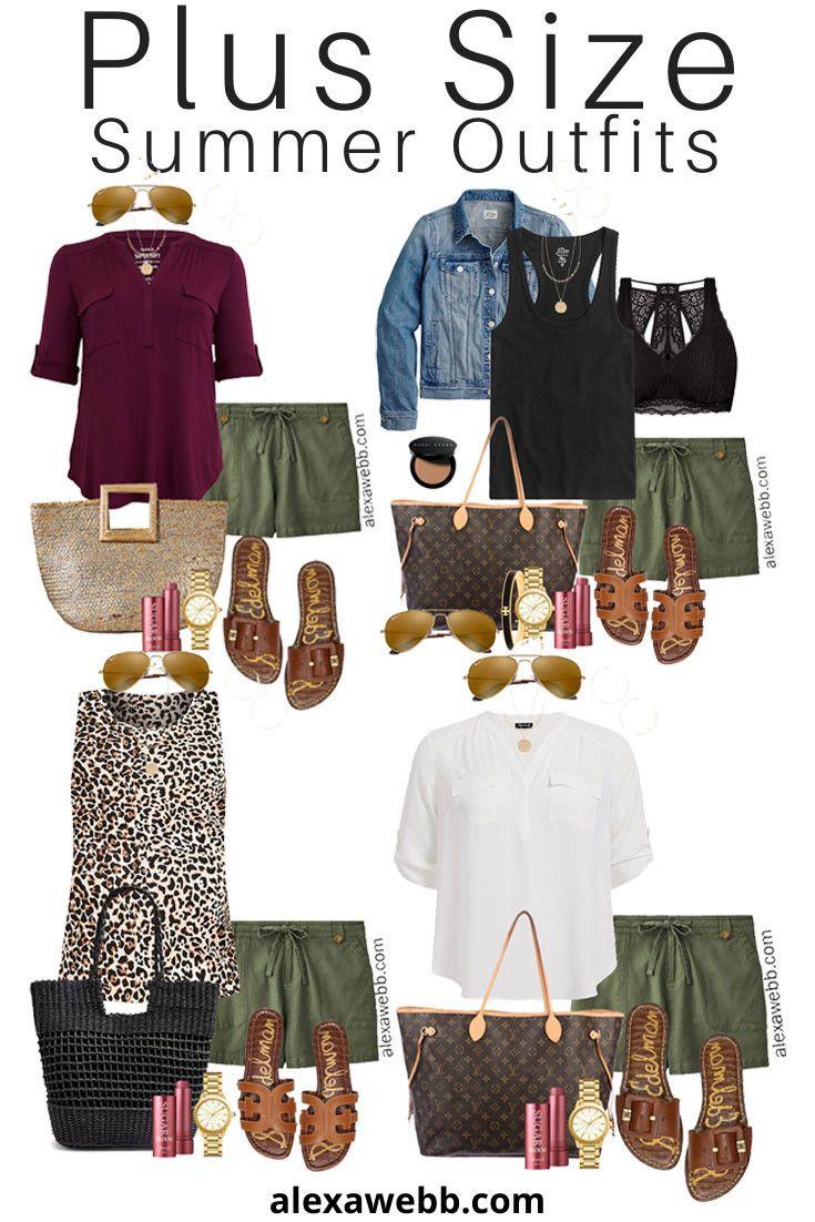 Plus Size Khaki Shorts Outfits – Part 2 - Alexa Webb