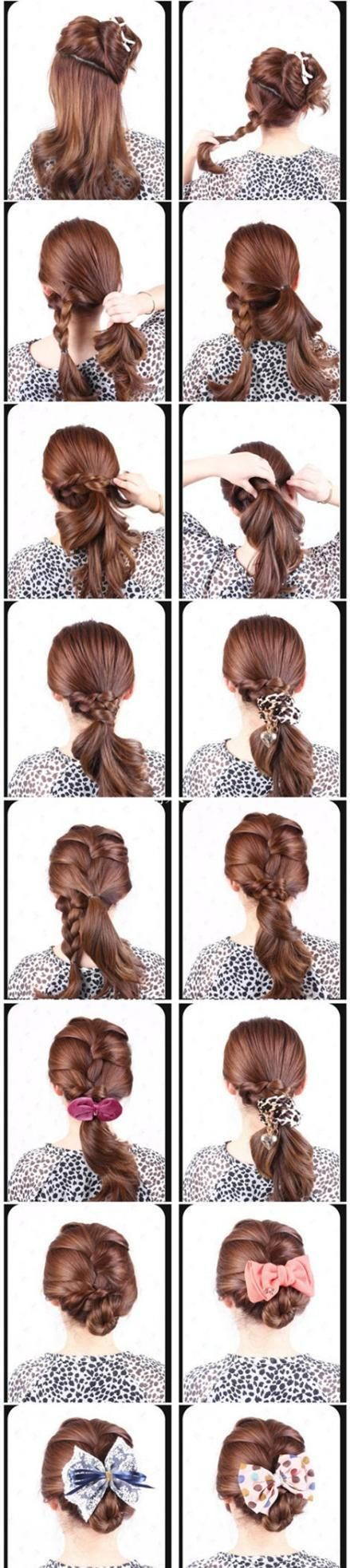 Picture tutorial of cute and easy updo hairspiration