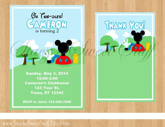 Mickey Mouse Clubhouse Inspired Birthday by StacysSweetStuff, $15.00