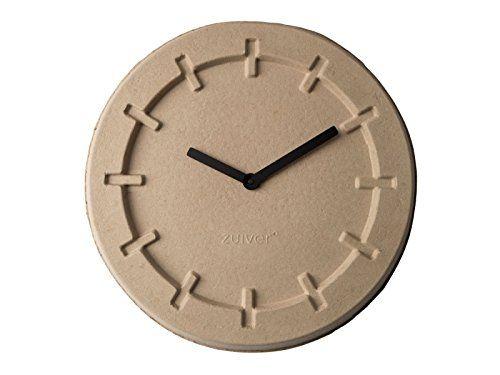 Wanduhr pulp time rund beige von zuiver aus papierzellstoff online kaufen bei aa clock wall - Wanduhr modern weiay ...