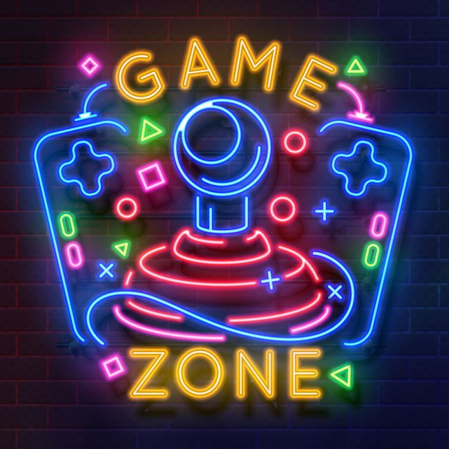 Game Zone Led Neon Sign Neon Signs Retro Games Wallpaper Led Neon Signs