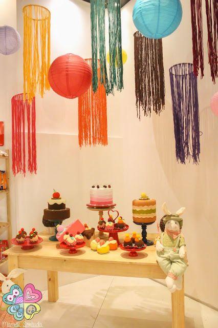 decoraç u00e3o com bambol u00ea, oficina de culinária, cozinhando com criancas, oficinas com criancas  -> Decoração De São João Com Papel Crepom