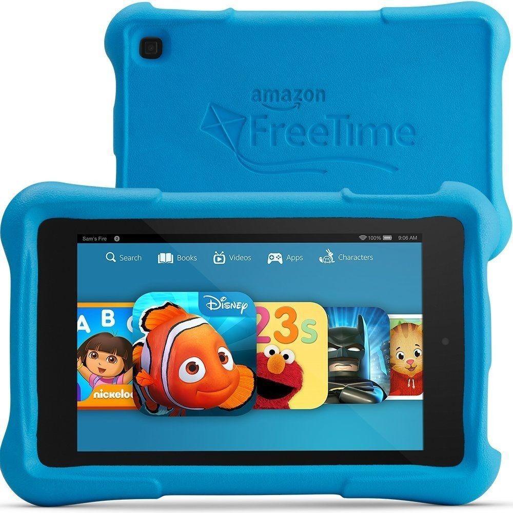 New Open Box Amazon Kindle Fire Hd 6 Kids Edition 8gb Wi Fi 6in Black Blue Amazon Fire Kids Kid Tablet Kids Tablet