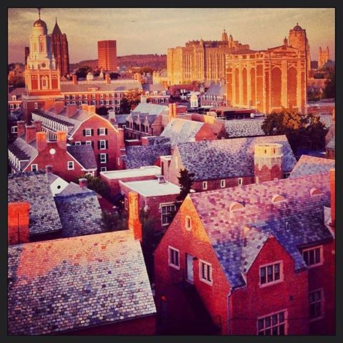 Great Instagram photo from #Yale English Language Institute! Yale: in spires, towers, rooftops. Looking north toward East Rock. New Haven, CT http://studyusa.com