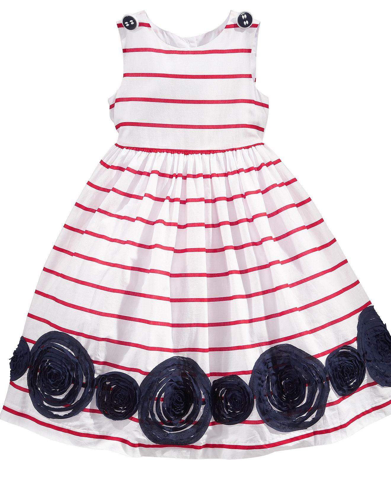 Marmellata Kids Dress Little Girls Nautical Striped Dress Web ID