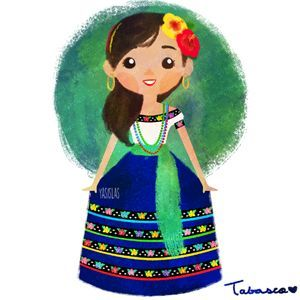 7c64424f2 México colores y diseños de sus trajes típicos Tabasco | muñecas ...