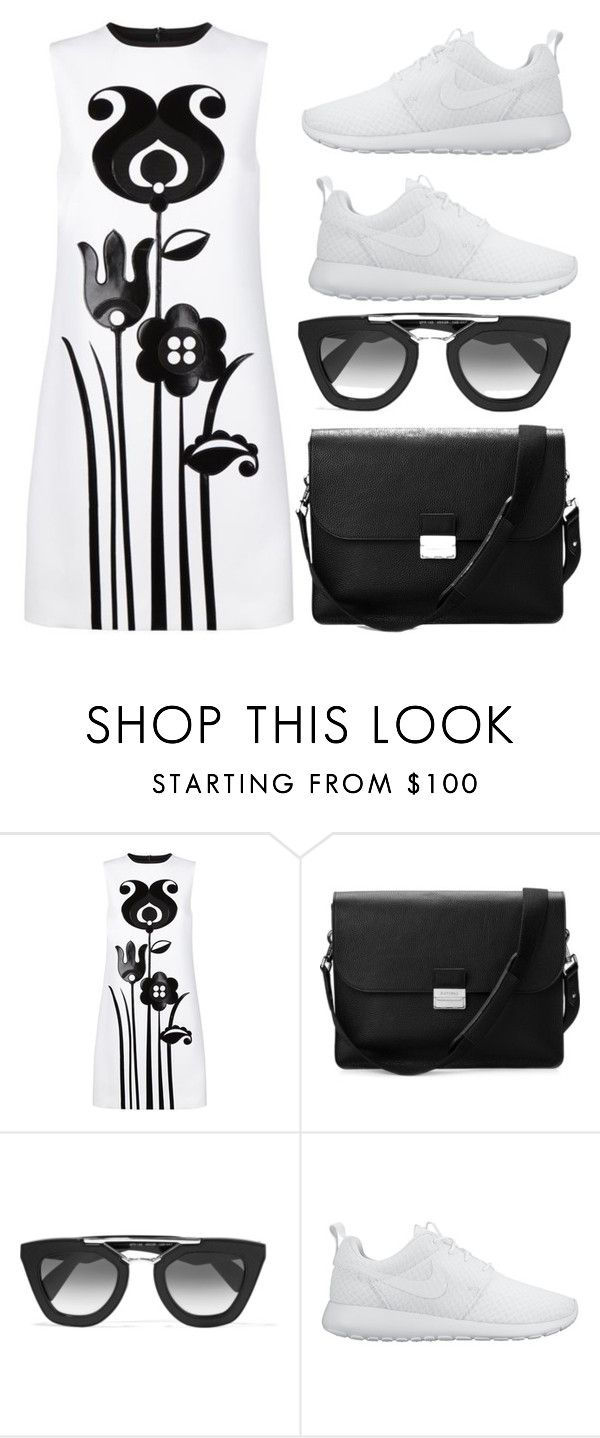 """""""Untitled #479"""" by flawless-willie ❤ liked on Polyvore featuring Victoria, Victoria Beckham, Aspinal of London, Prada and NIKE"""