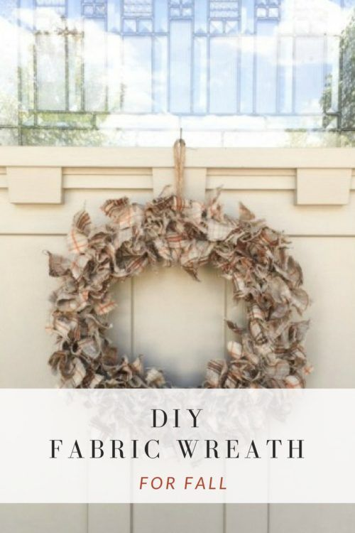 Photo of How to Make a DIY Fabric Wreath for Fall   The Crafty Blog Stalker