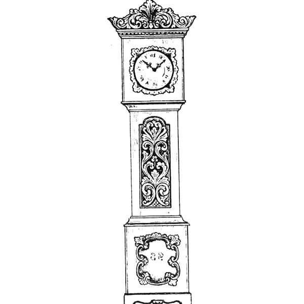 An Antique Grandfather Clock Coloring Pages Antique Grandfather Clock Grandfather Clock Coloring Pages