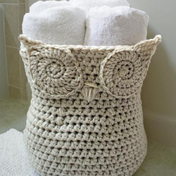 Its A Hoot Storage Basket Free Pdf Crochet Pattern Pinterest
