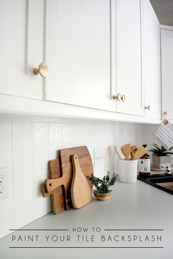 How To Paint Your Tile Backsplash Brepurposed Painting Kitchen Tiles Painting Tile Backsplash Ceramic Tile Backsplash