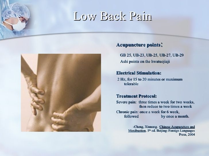 Treatment Of Low Back Pain Based