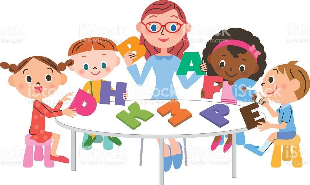 a teacher and children who teach english english class english rh pinterest com english class clipart