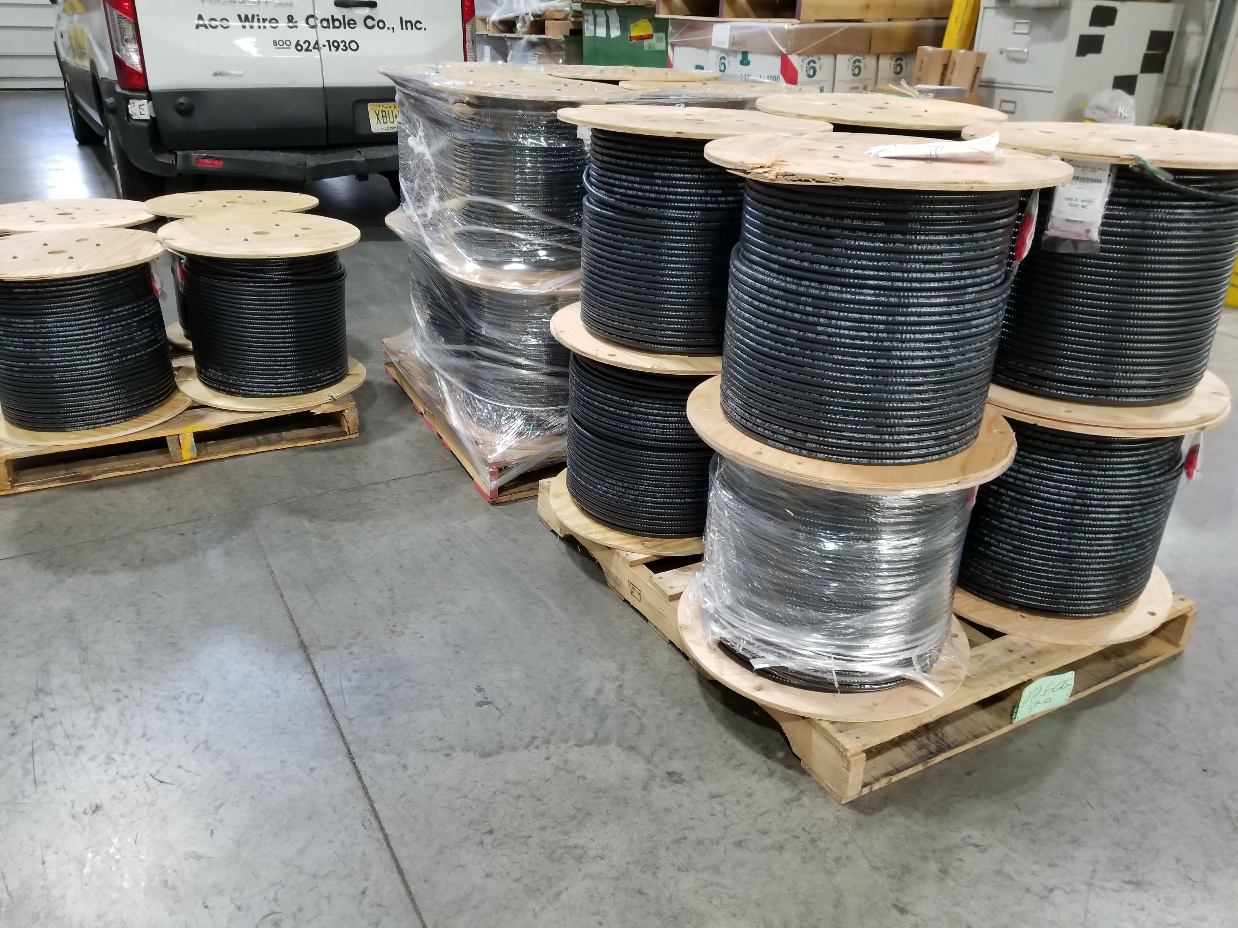 Reels of Multi-Conductor Feeder Size #MC heading out. No place does ...