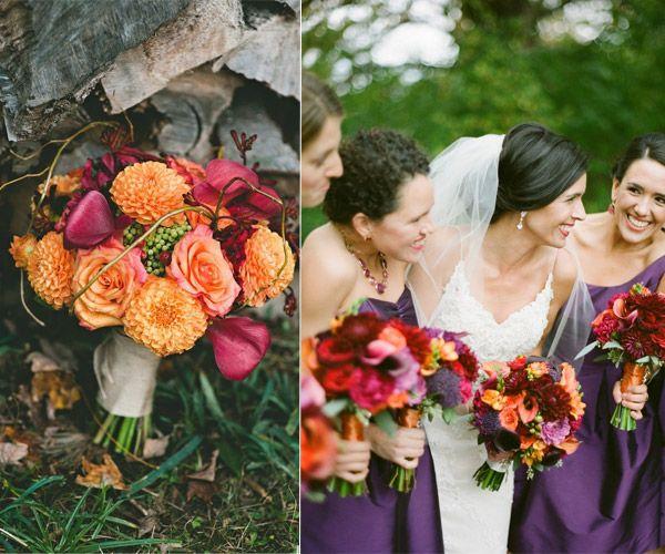 April Wedding Colors: Hot Fall Wedding Colour Combinations 2014: Burgundy