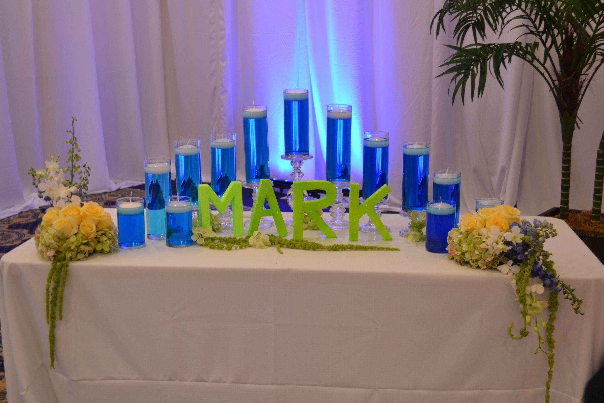 Bar Mitzvah Candle Lighting Display Party Perfect Boca