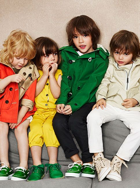 2368a7450 Bright pops of colour and weatherproof outerwear - Burberry Childrenswear  for S/S14