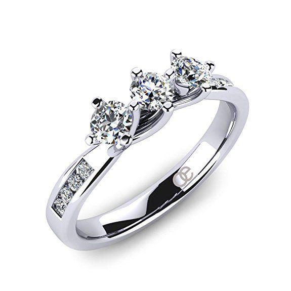Moncoeur Ring Dahlia Trilogy Trilogie Mit Runden Swarovski Steinen 3 Steine Verlobungsring Trauring Wunderscho Ring Verlobung Verlobungsring Damen Ring