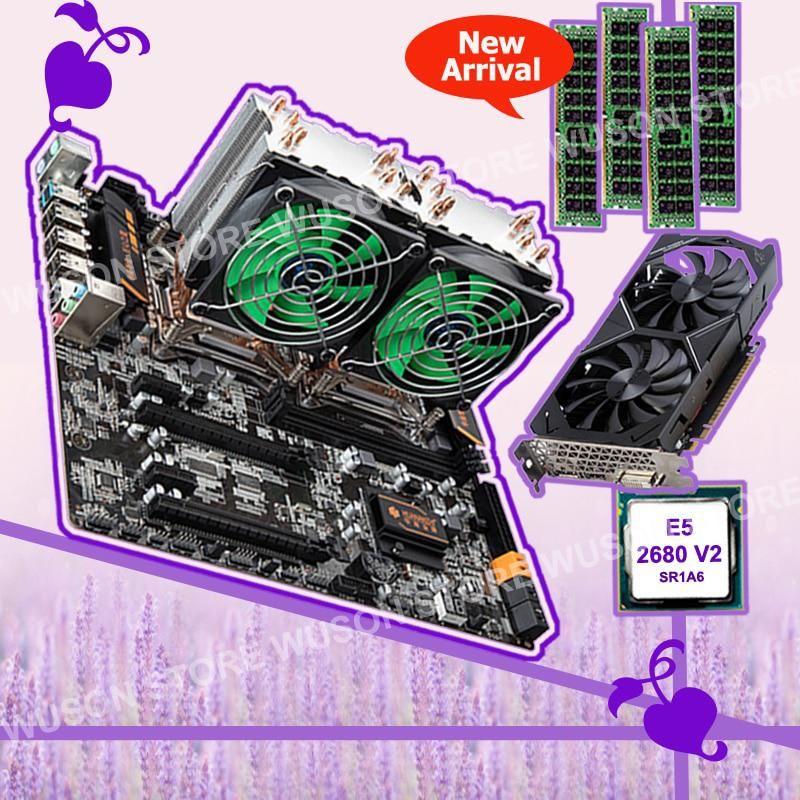 HUANAN ZHI X79 dual CPU motherboard with dual CPU Intel Xeon