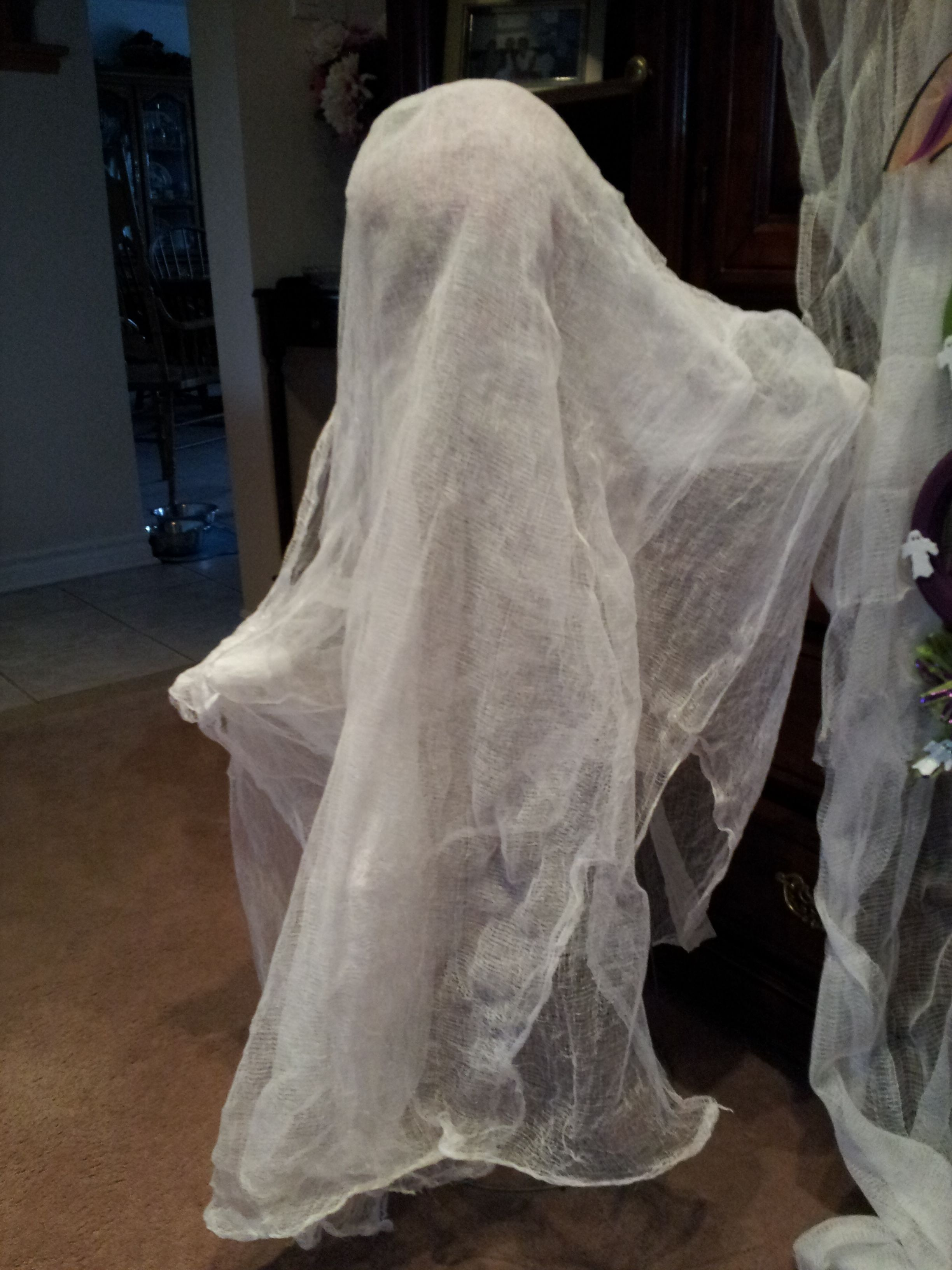 The first starch ghost....we think it is spookier with no