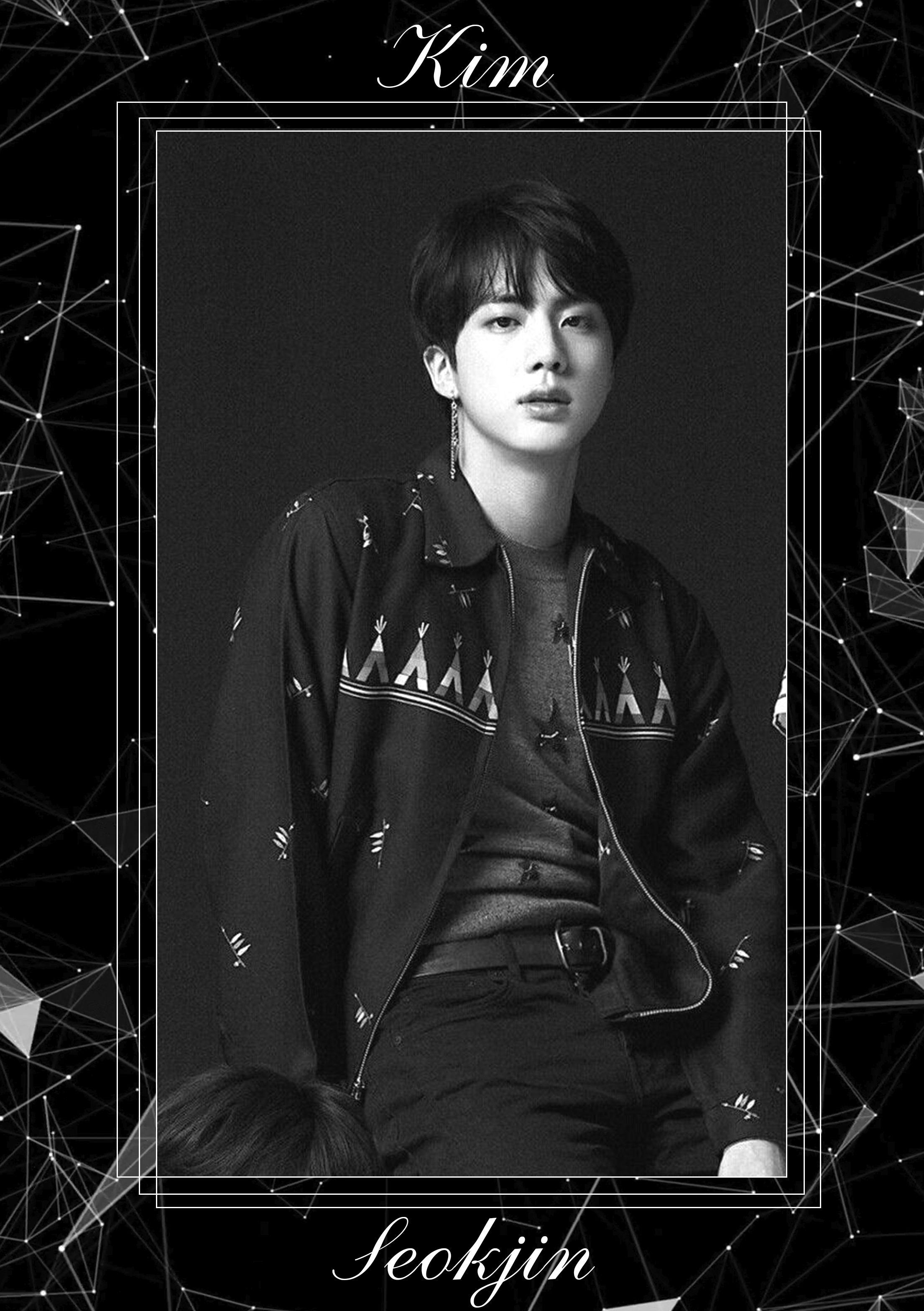 Bts Kim Seokjin Black Wallpaper Suami Saya Suami
