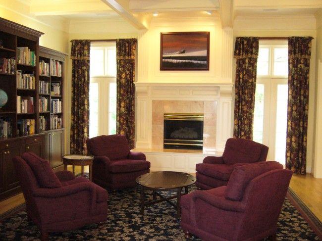 Better Home And Gardens Livingroom With Brown Sofa  Model Homes Prepossessing Burgundy Living Room Decor 2018