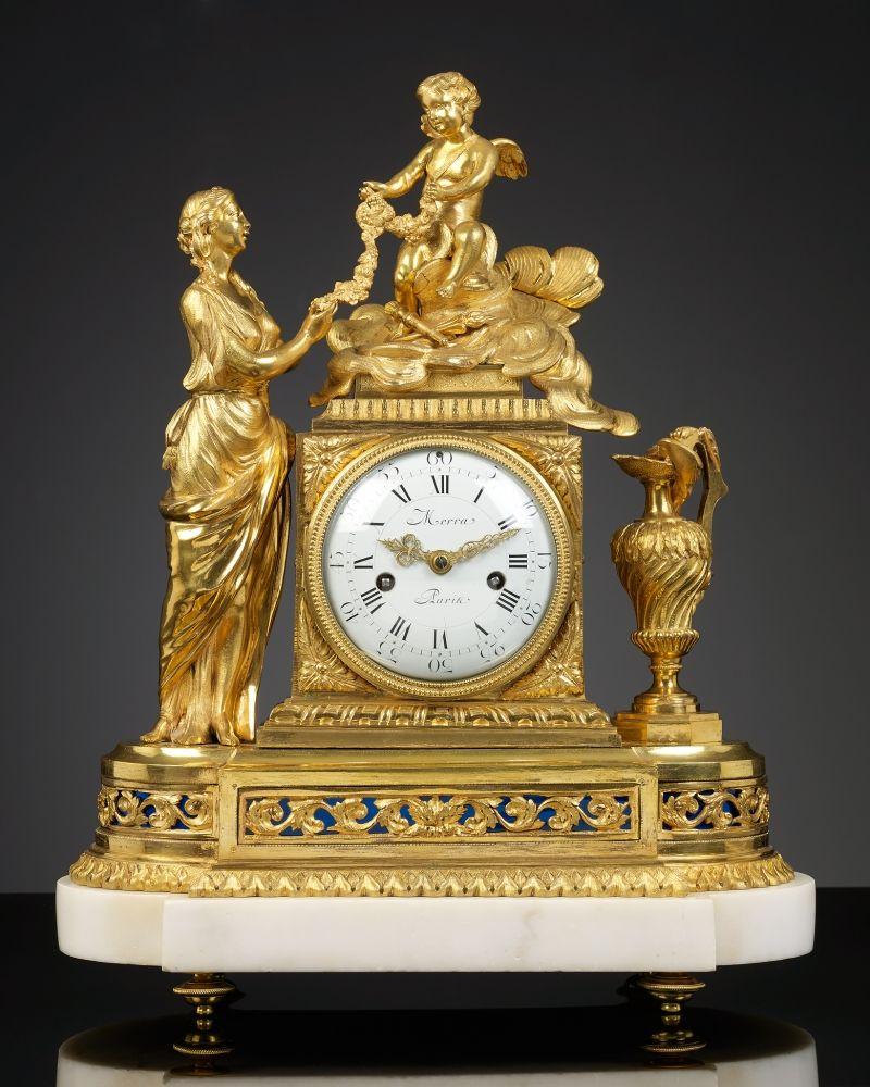 French Louis Xvi Mantel Clock La Toilette De Venus Antike Uhren Alte Uhren Standuhren