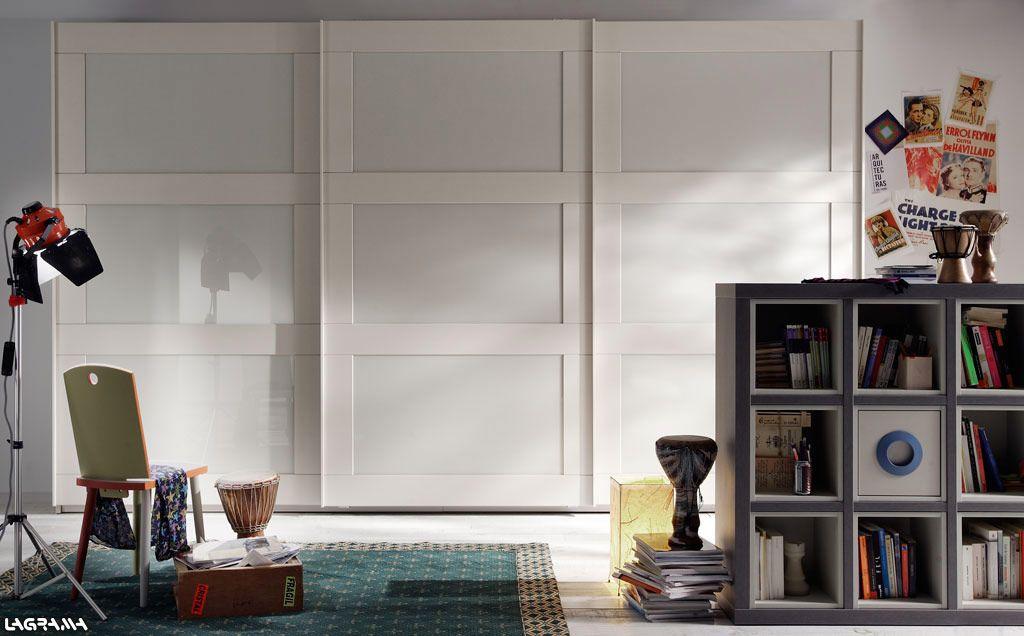 Cat logo avatar pro zona armarios a109 armario de puertas correderas trinity cristal blanco - Armario con puertas de cristal ...