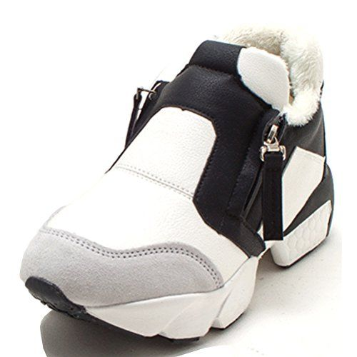 pretty nice baa83 3c132 EpicStep Womens White Winter Furlined Casual Zip Up Slip On Athletic  Running Shoes Sneakers 6 M US     To view further for this item, visit the  image link.