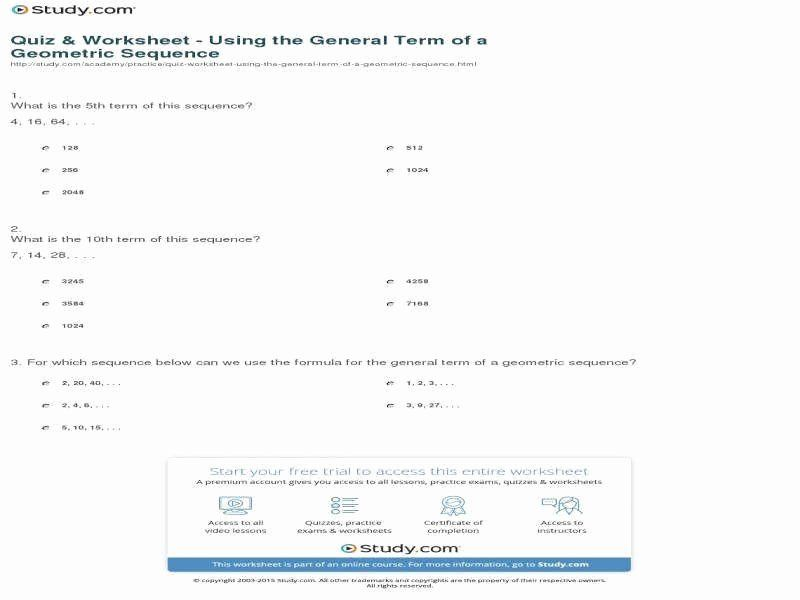 16+ Arithmetic And Geometric Sequences Worksheet With Answers