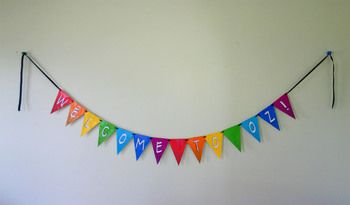 """#WizardofOz """"Welcome to Oz"""" pennant banner in three sizes -- great for Open House, a book study, or just for a fun party!"""