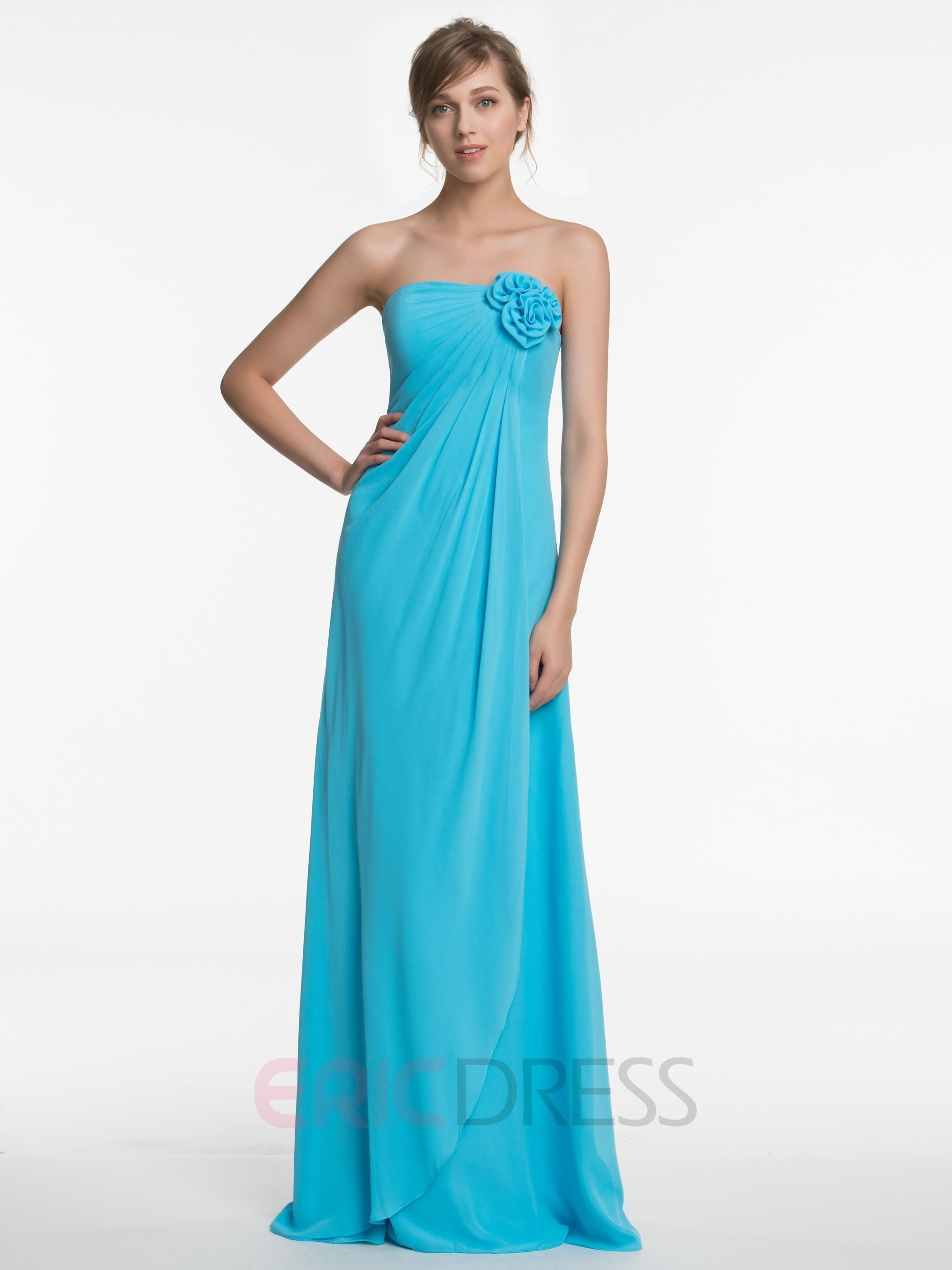 Beautiful Strapless A Line Chiffon Bridesmaid Dress | Pinterest ...
