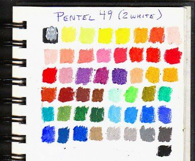 Pentel Artists Oil Pastels 49 Colours