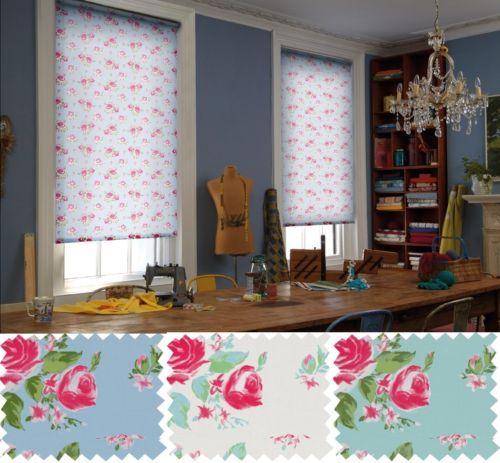 Shabby Chic Floral Patterned Roller Blind Fully Made To Measure In 3 Colours Ebay Roller Blinds Curtains With Blinds Shabby Chic
