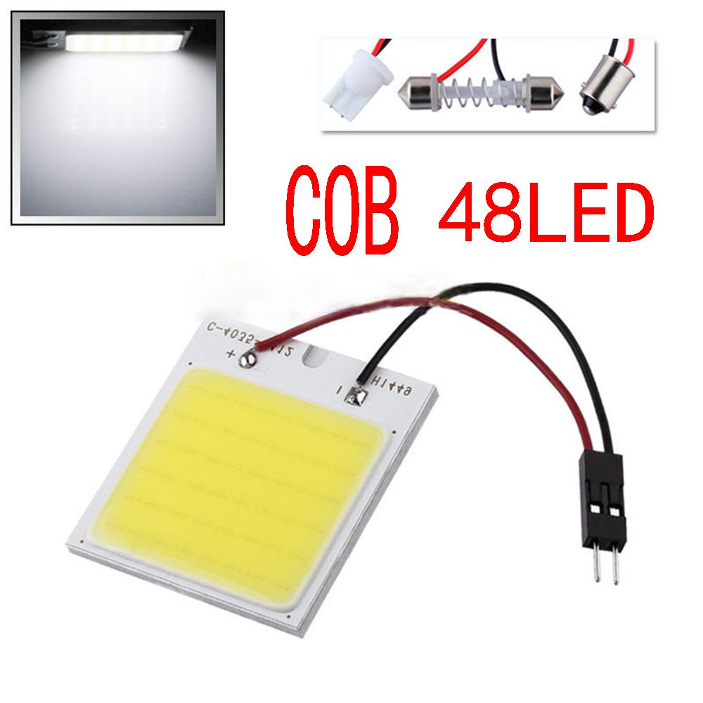 C5w Cob 48 Smd Chip Super White Reading Lamp 12v Led Dome Bulb Led Car Parking 32616135062 Html Learn More By Visiting Th Reading Lamp Indoor Lamp Car Lights