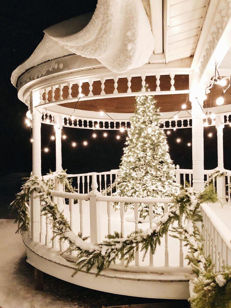 Our Farmhouse Winter Porch Outdoor Christmas Outdoor Christmas Decorations Christmas Decorations