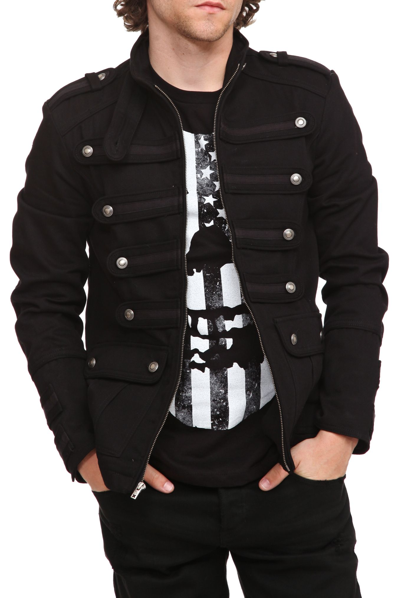 Tripp Black Guard Jacket Hot Topic Clothes Of Badassery M