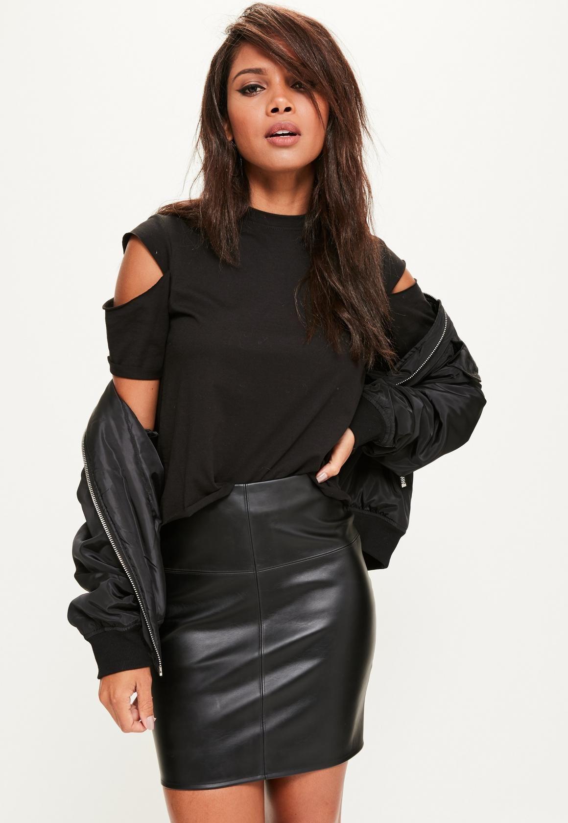 44d66d6f10e Faux Leather Mini Skirt Black - Skirts - Mini Skirts - Missguided