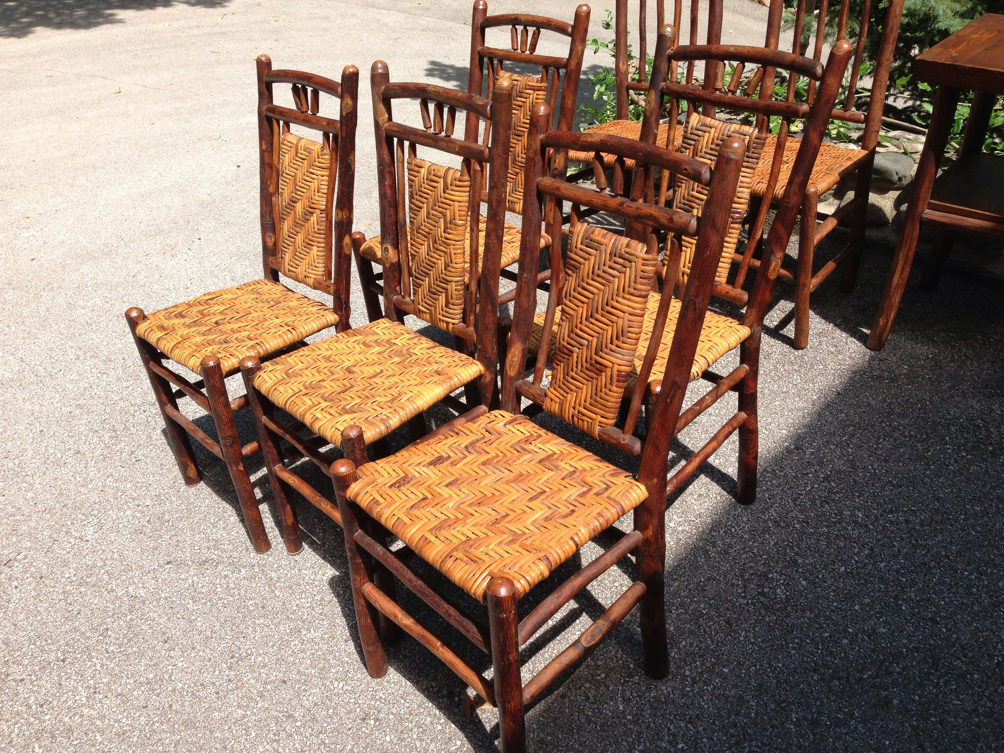 6 Old Hickory Dining Chairs Christibys Sold Old Hickory Furniture Hickory Furniture Old Hickory