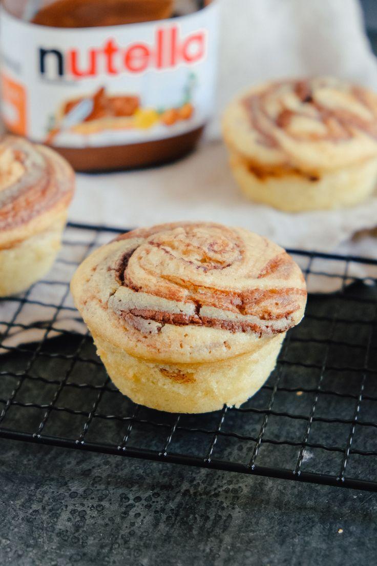Nutella-Muffins mit flüssigem Kern