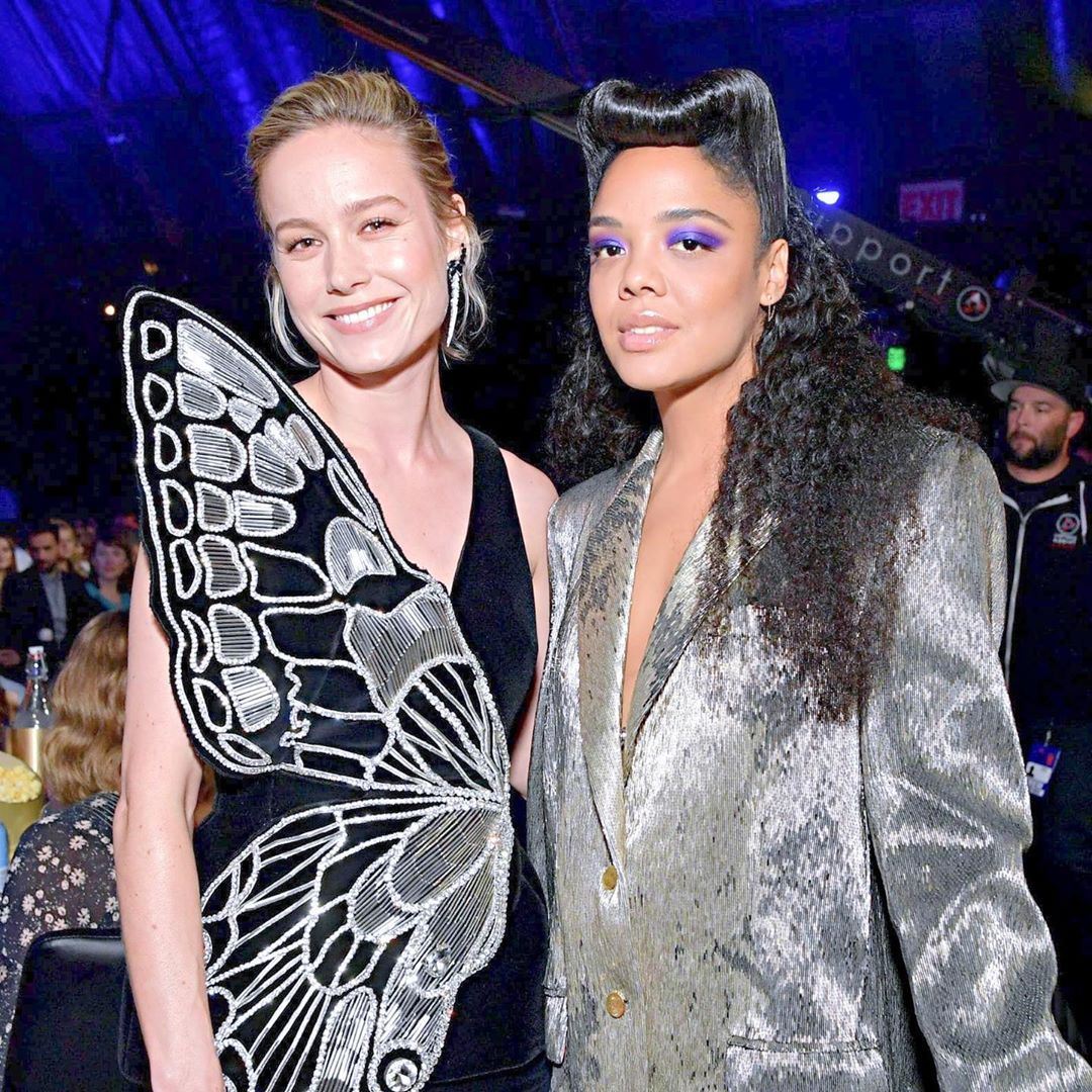 Brie And Tessa Thompson Inside At The Mtv Movie Awards On June 15th 2019 Brielarson Mtv Movie Awards Movie Awards Tessa Thompson
