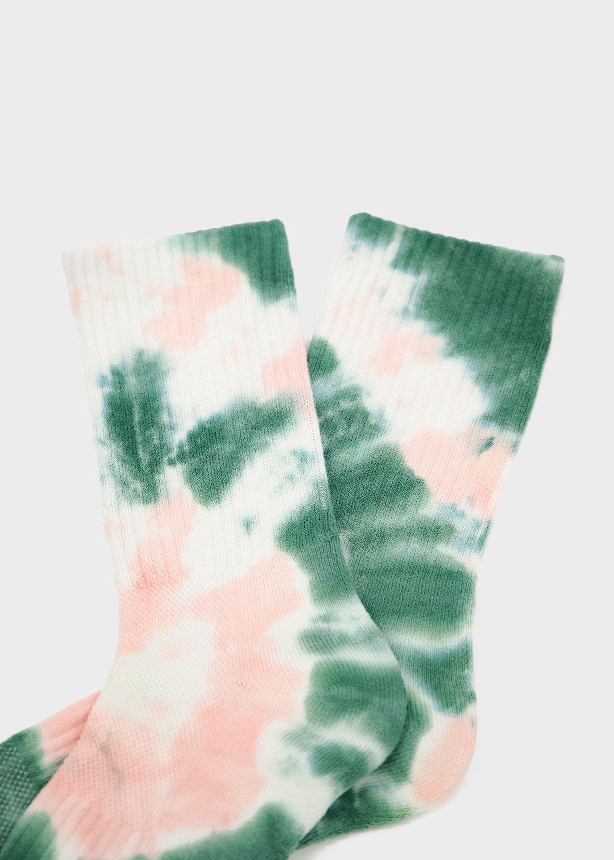 N/A Socks Tie Dye Sock in Green/Pink in 2020 Tie dye