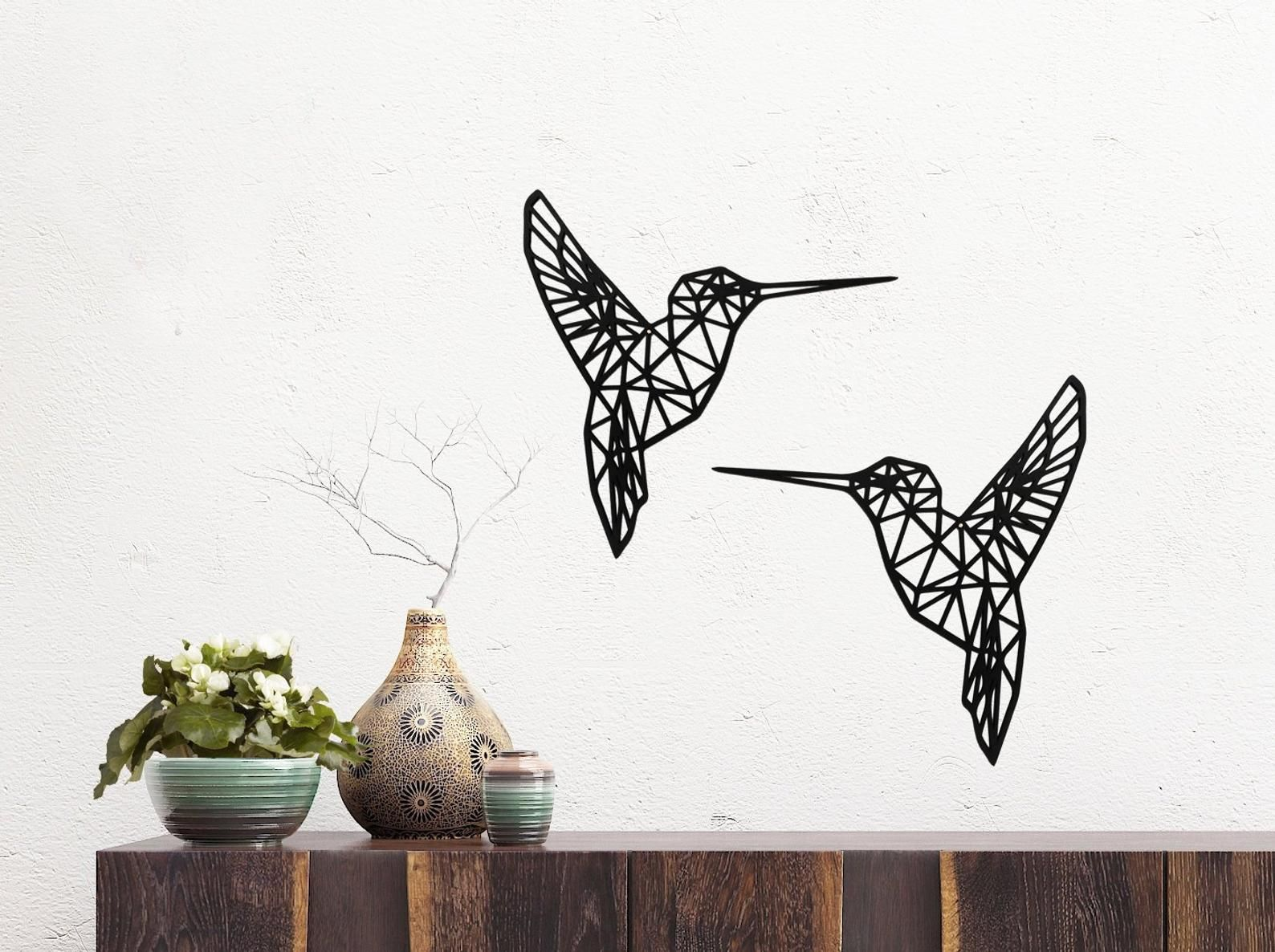 Geometric Hummingbird Wall Art Geometric Animal Wood Home Decor Wall Decal Woodland Decor Industrial Wall Decor Bos Decor Geometrische Kunst Aan De Muur Badkamer Kunst Aan De Muur