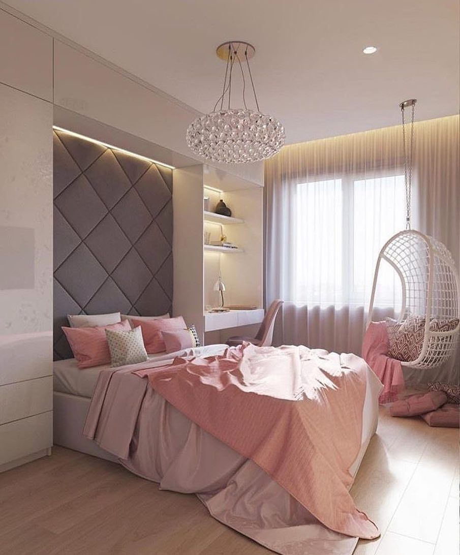 Pink And Gray Bedroom Via Pinterest Interiordesign Interiores Bedroom Bedroomdecor Bedroominspo Gra Small Bedroom Home Bedroom Bedroom Decor
