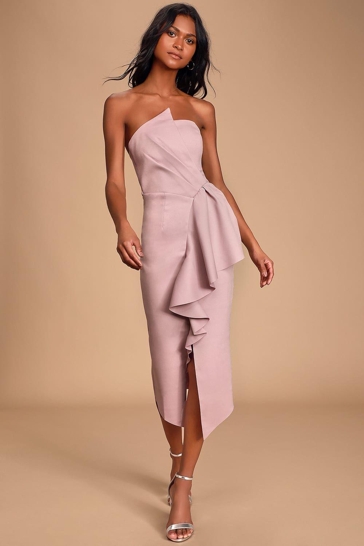 Reception Light Purple Strapless Bodycon Dress Bodycon Dress Midi Dress Bodycon Dresses [ 1500 x 1000 Pixel ]