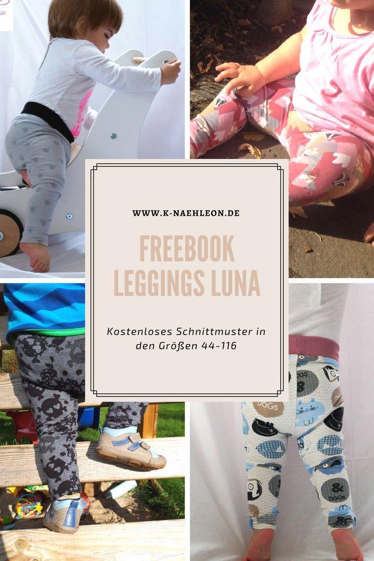Freebook: Kostenloses Schnittmuster Leggings Luna | Gratis